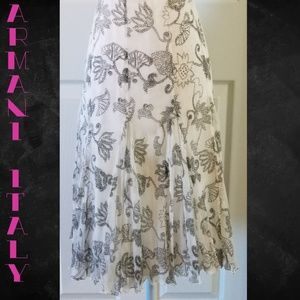 Armani Collezioni Fit and Flare Floral Skirt